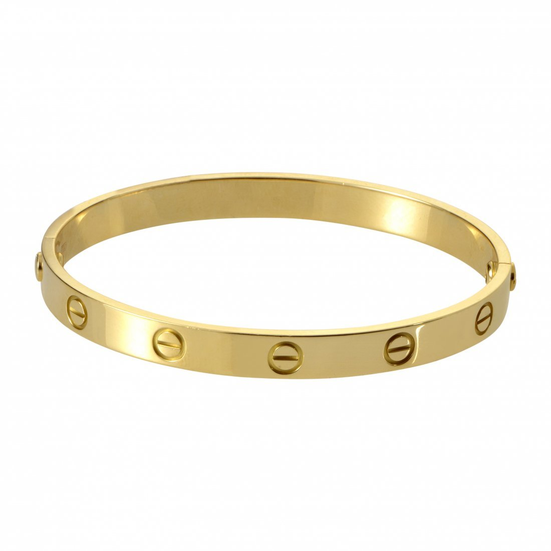 Cartier LOVE 18K Yellow Gold Size 18 Bracelet