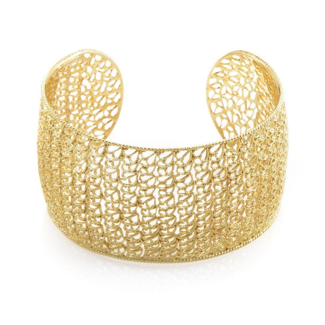 Filidoro 18K Yellow Gold Cuff Bracelet