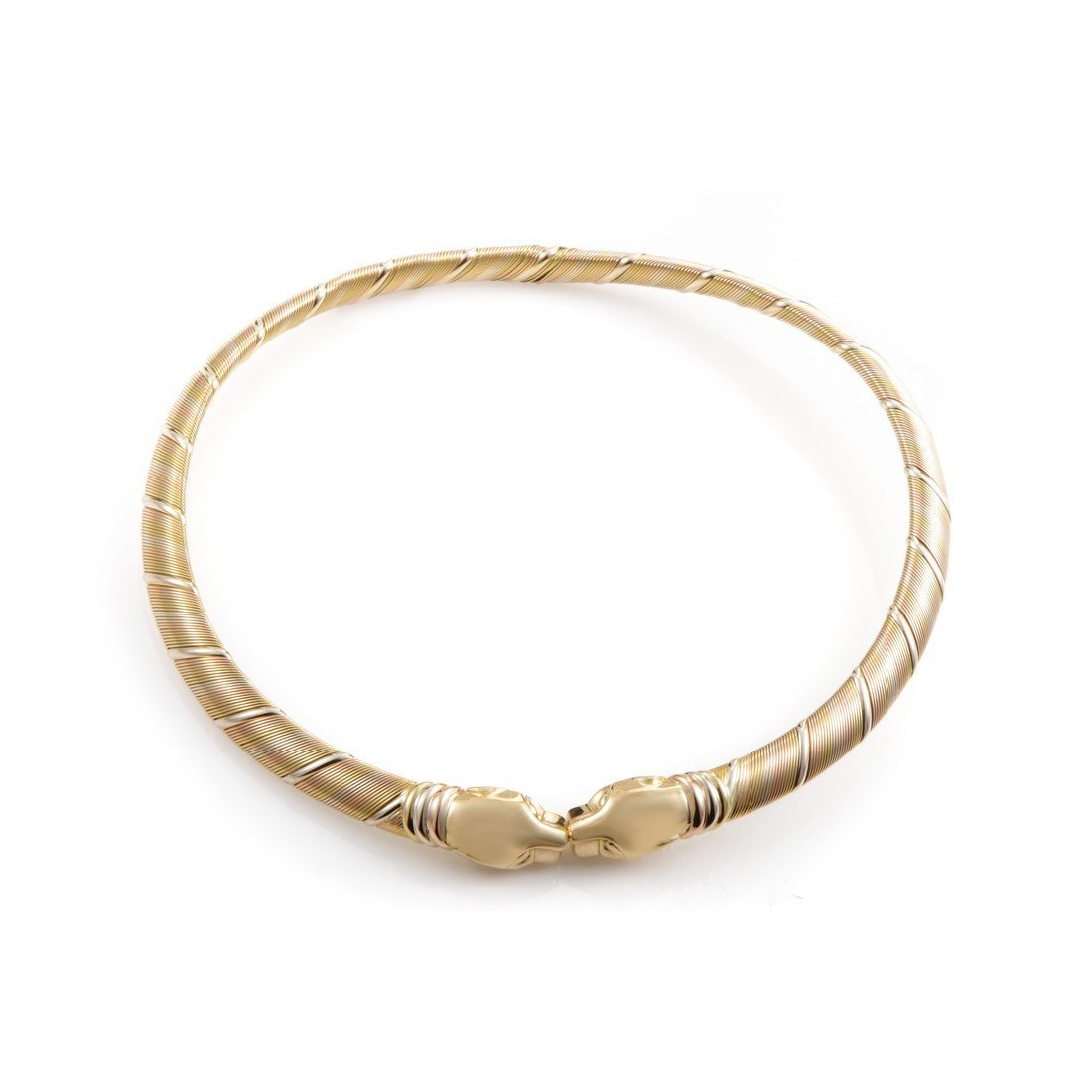 Cartier Panthere 18K Tri-Gold Cuff Necklace