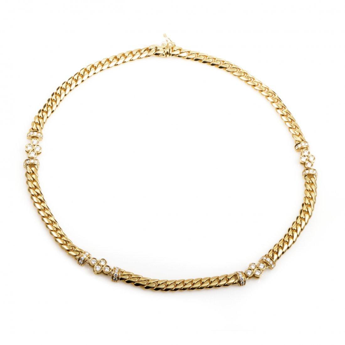 Vintage Bvlgari 18K Yellow Gold Diamond Collar Necklace