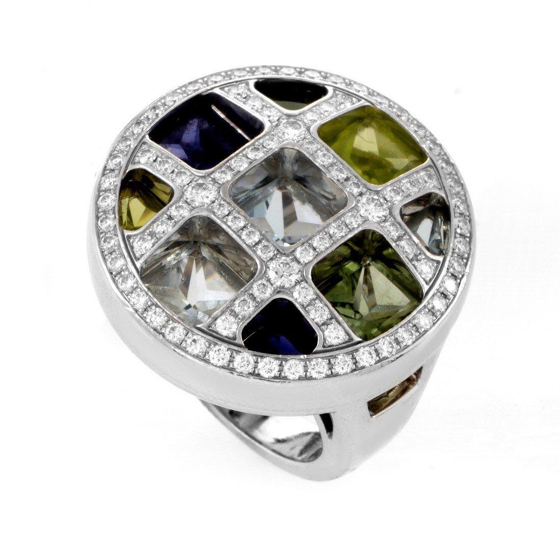 Pasha 18K White Gold Multi-Gem Diamond Ring