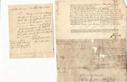 Group Three Colonial and Later Manuscript Lot