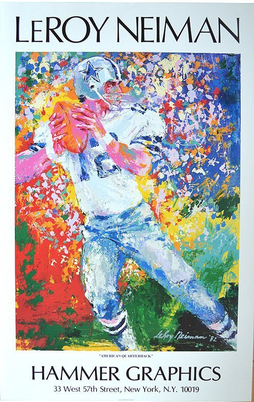 "Leroy Neiman - ""America's Quarterback"""