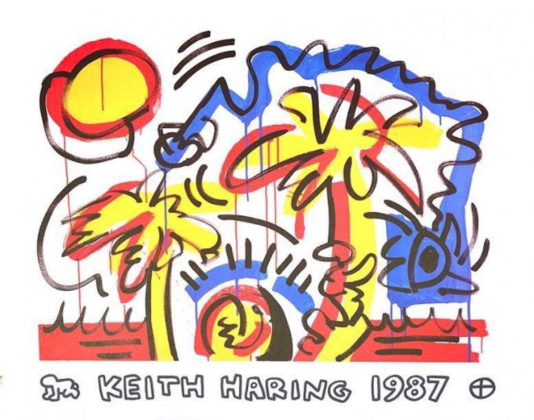 Keath Haring Palm Tree