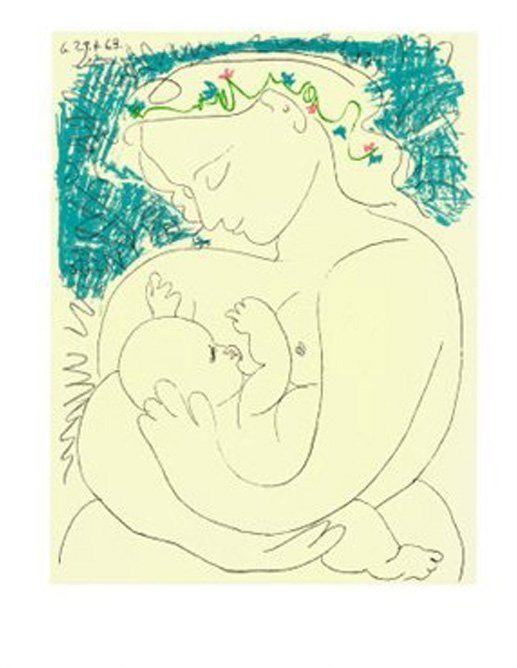 Pablo Picasso - Lithograph Mother and Child