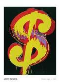 Andy Warhol Dollar Sign 1981 36 X 24