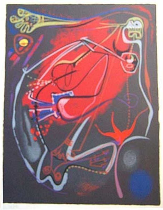 Andre Masson. Untitled Signed and Numbered # 48/125