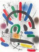 Miro Lithograph One Page9. 5 X12. 5 from Book 1 # Ii