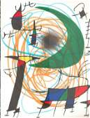 Miro Lithograph One Page9. 5 X12. 5 from Book 1 # V