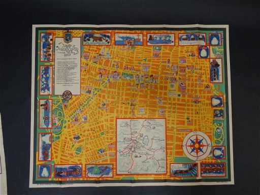 Map Of Mexico City By Carlos Merida 1935 Ap479