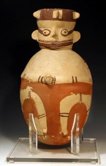 Pre-Columbian Very Large Chancay Pottery Amphora, Ca