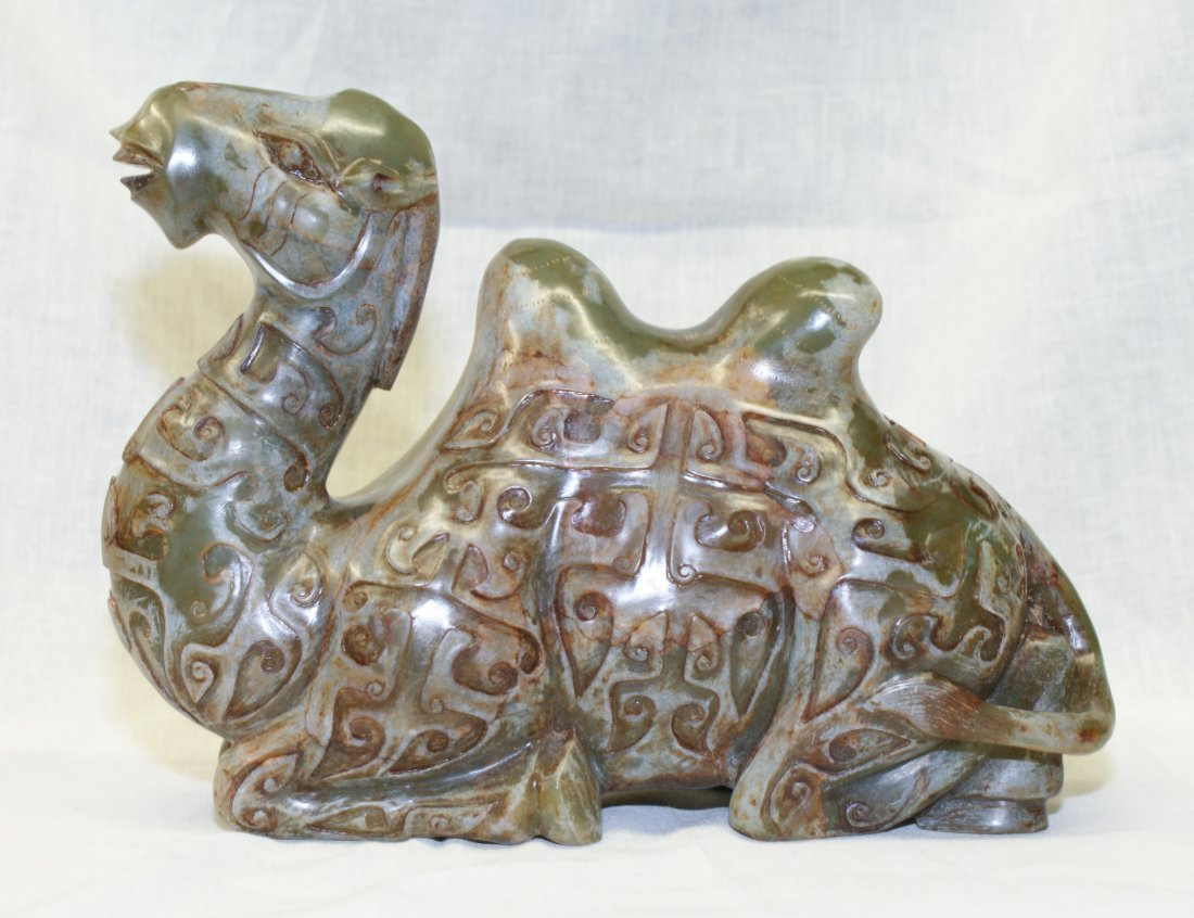 Archaic Jade Carving of a Camel. Probably Song or