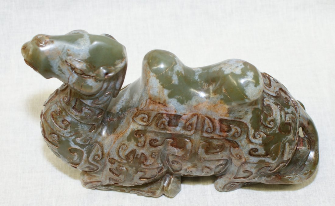 Archaic Jade Carving of a Camel. Probably Song or - 3