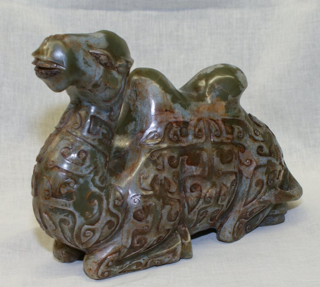 Archaic Jade Carving of a Camel. Probably Song or - 4