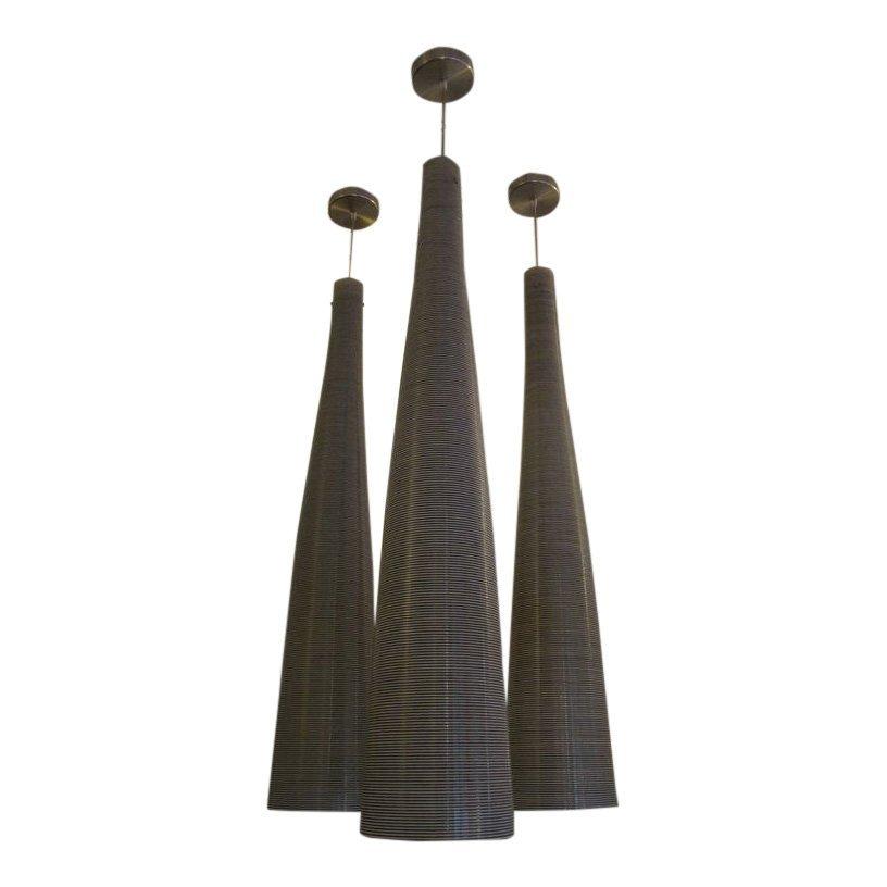 Three Elongated Pendants by Foscarini, Contemporary