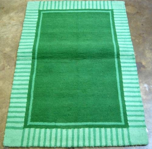MODERN GREEN SHADE COLOR FINE QUALITY HAND TUFTED RUG