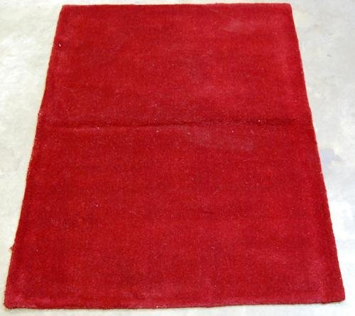 RICH SOLID RED HAND TUFTED RUG