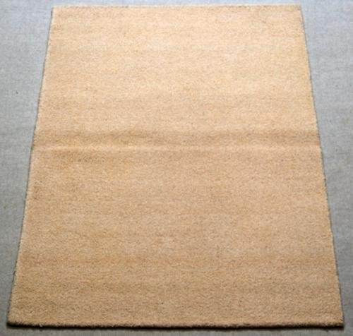 SOLID BIEGE LUSH PILE FINE QUALITY HAND TUFTED RUG