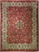 Semi Antique Persian Tabriz 10.4X13.8 Circa 1930S