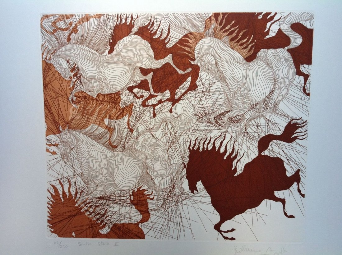 Guillaime Azoulay - HORSES SUITE etching