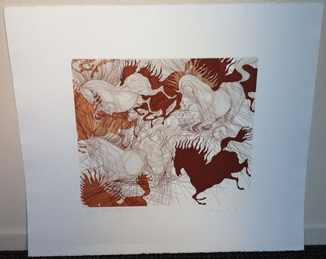 Guillaime Azoulay - HORSES SUITE etching - 4