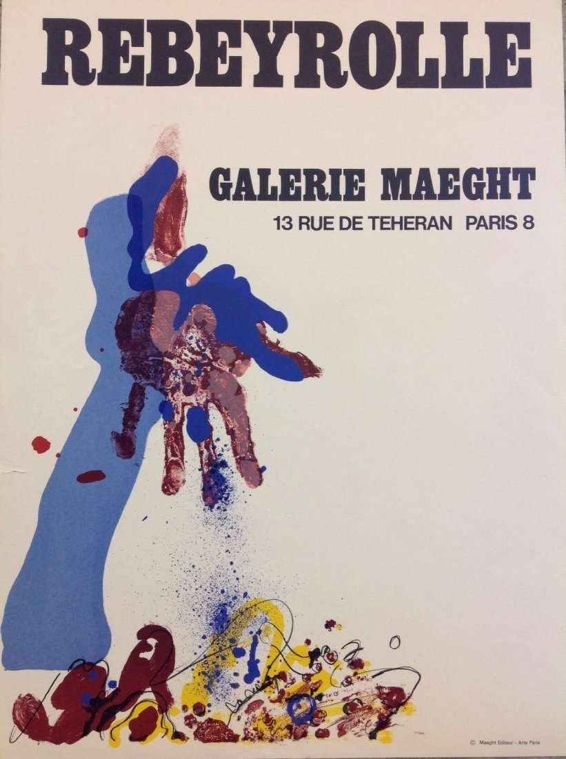 Rebeyrolle - Galerie Maeght - Maeght Edition Arte Paris
