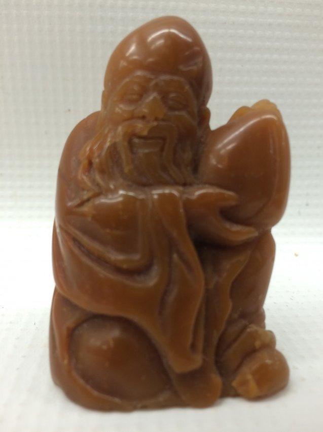 A Chinese Yellow Soapstone Lohan