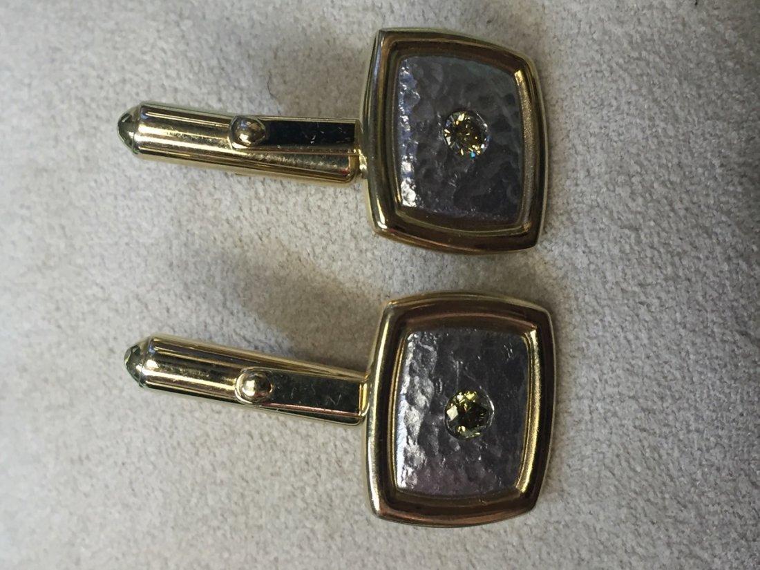 plat/18k cuffs