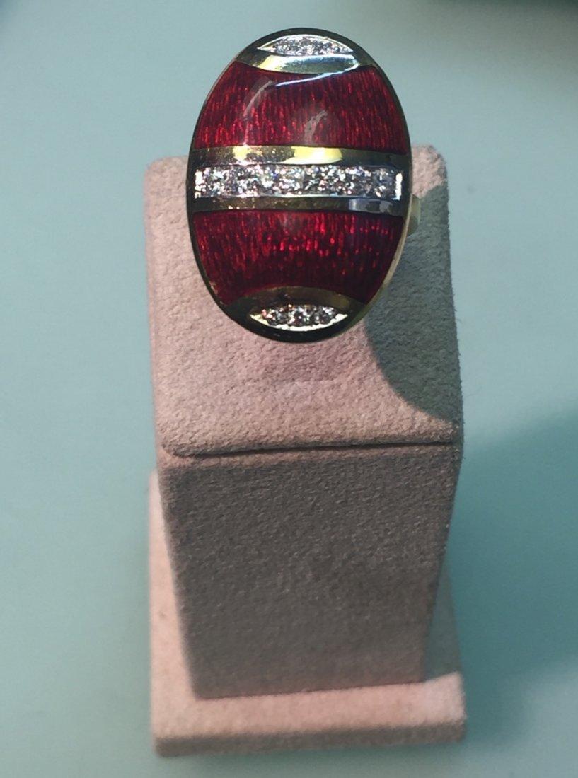 enamled ring