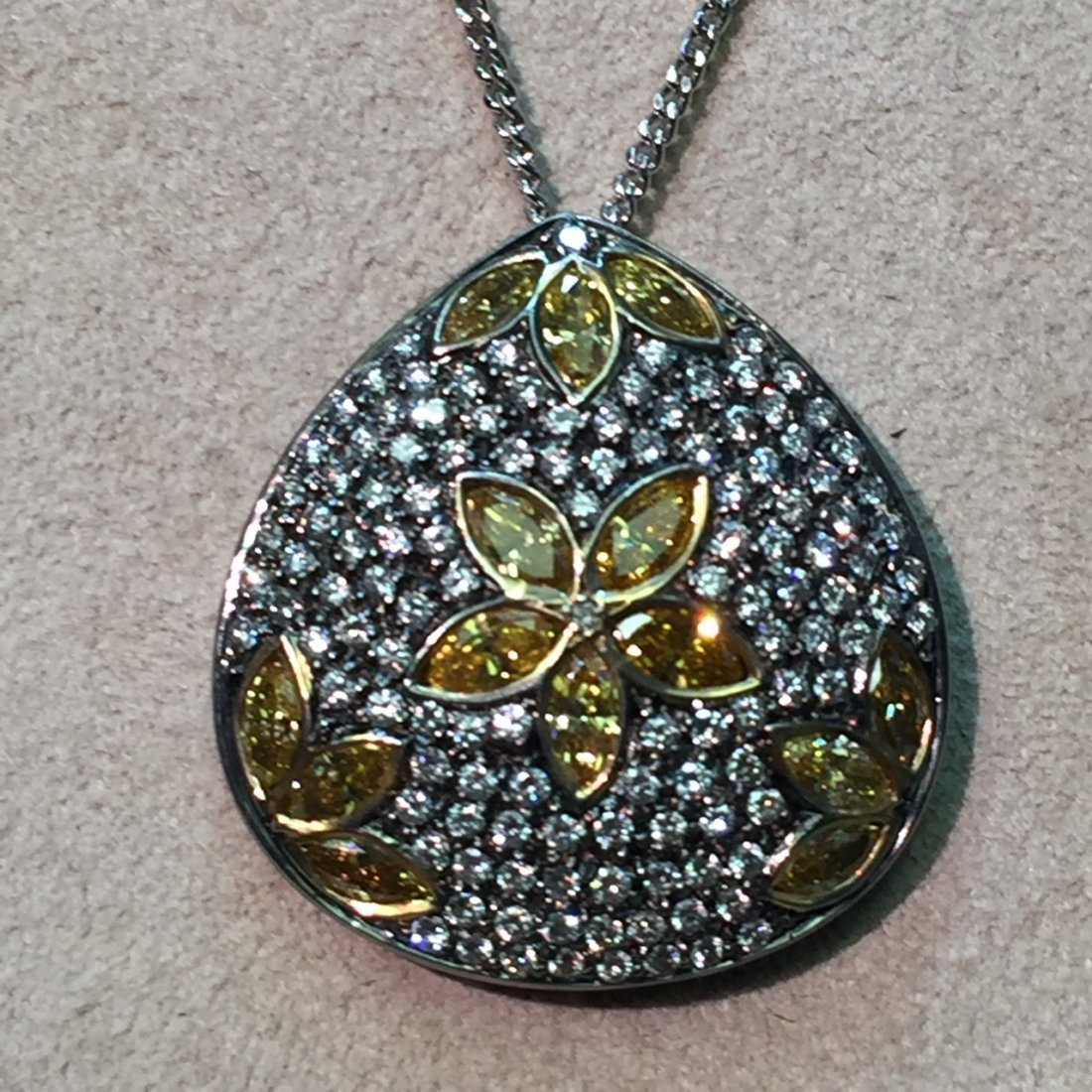 orange diamonds pendant