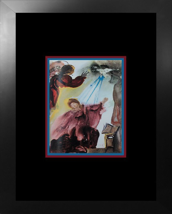 Salvador Dali 1970 Biblia Sacre Lithograph.