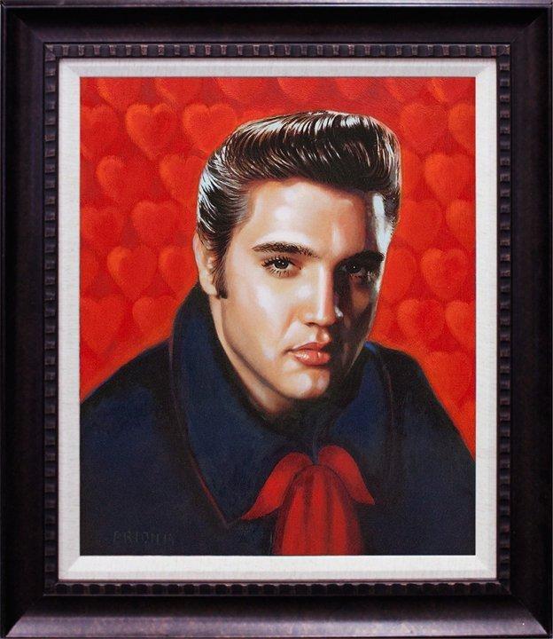 Elvis Original on canvas by Katherine Arion