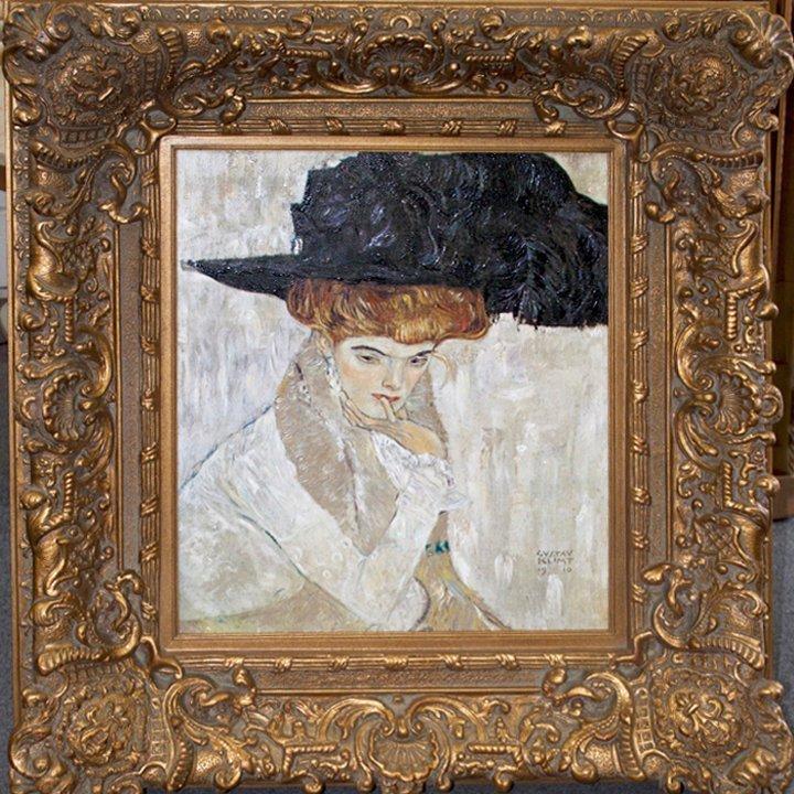 After Gustav Klimt -Lady with Hat