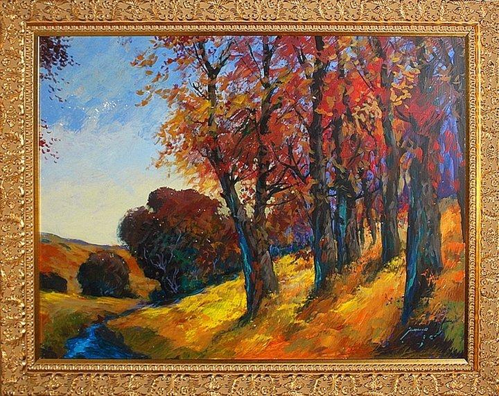 Michael Schofield Autumn Leaves Original Oil