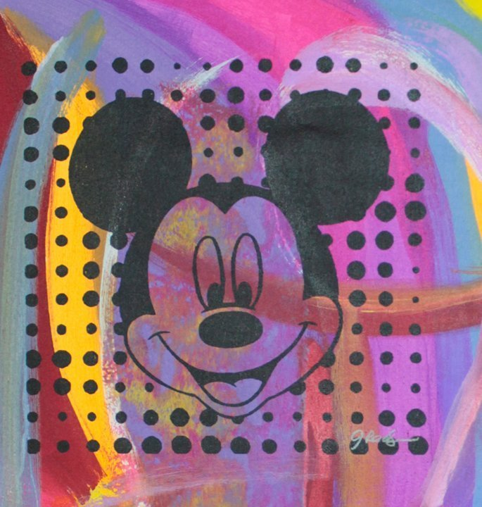 Mickey Mouse Mixed Media Original Hand signed by the