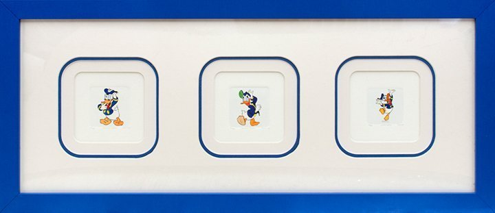 Donald Duck in action cartoon Hand Colored Original