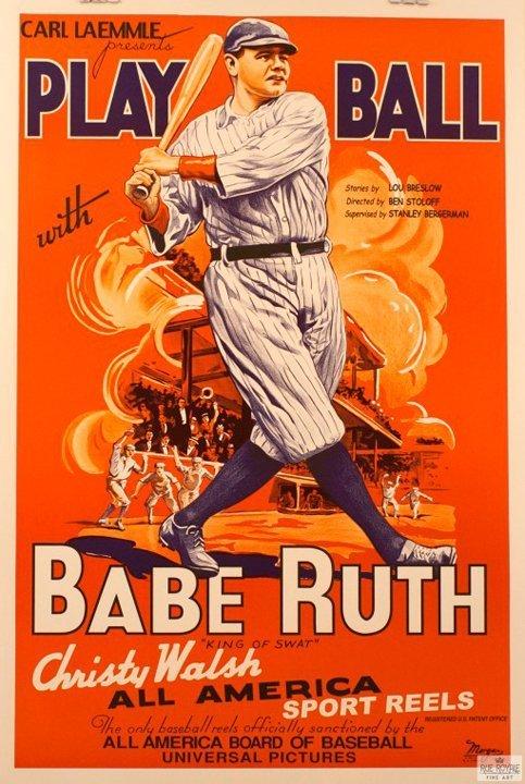 Babe Ruth Original Lithograph