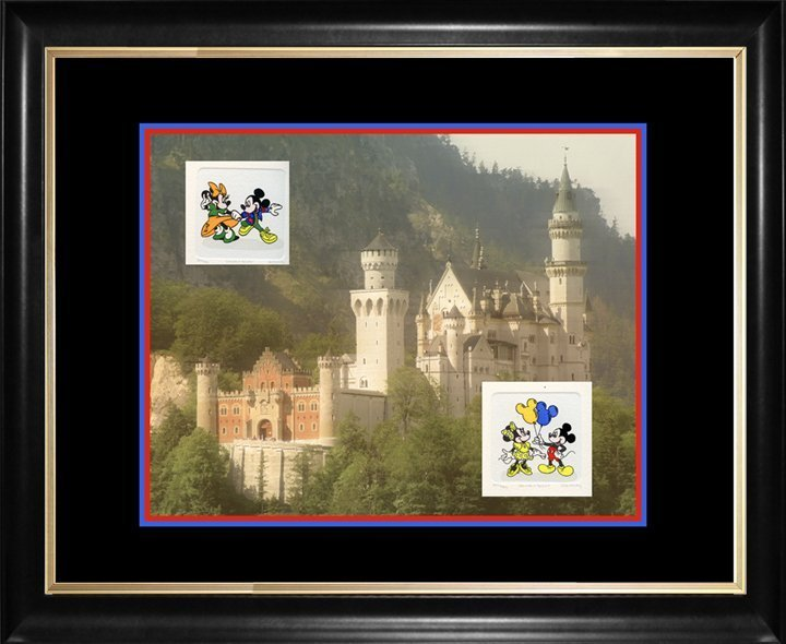 Castle & Mickey Mouse Original fine art Lithograph