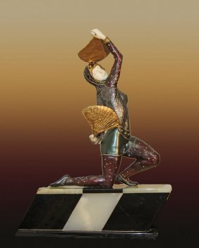 Chiparus Bronze Sculpture Fan Dancer