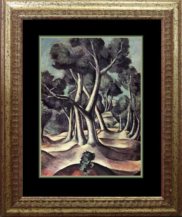 Andre Derain Der Wald Lithograph from appox 80 years