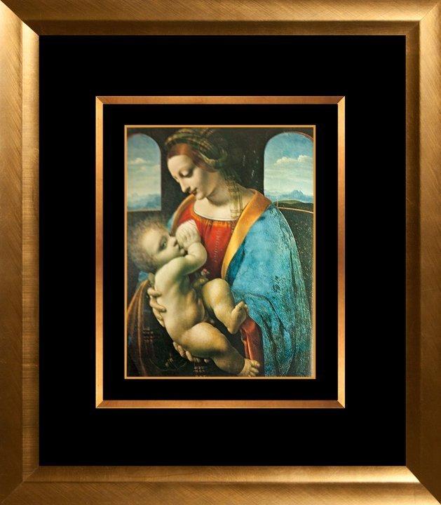 Leonardo Da Vinci Lithograph from the Hermitage
