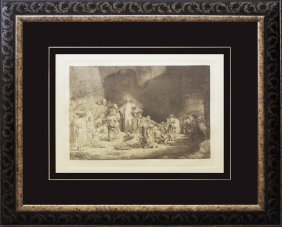 Rembrandt-durand Etching From Original Plates Christ