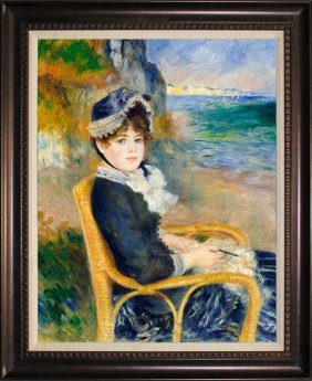 By The Seashore After Pierre Auguste Renoir