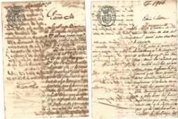 1858 Cuban Manuscripts Cigar Patent
