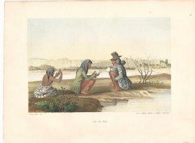 1857 Colored Lithograph Native Americans