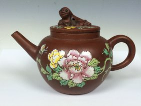 Ceramics Teapot W/ Enamel