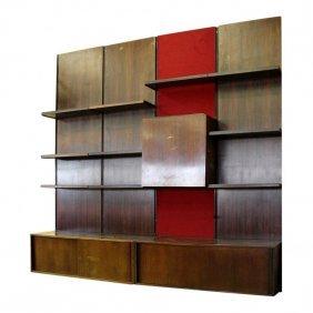 60s Osvaldo Borsani For Tecno Rosewood Bookshelf