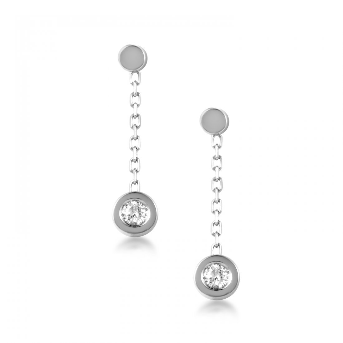 Gucci 18K White Gold Diamond Dangle Earrings 08019998