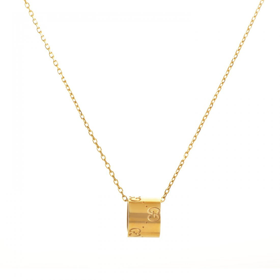 Gucci Icon 18K Yellow Gold Pendant Necklace  Dangling