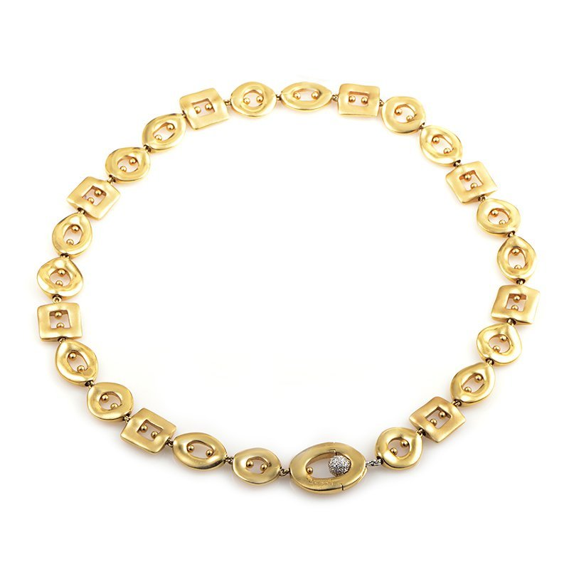 Pomellato 18K Multi-Gold Diamond Choker Necklace  Gold